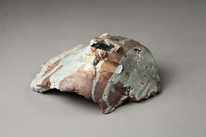 SHAPIRO Jeff - Abstract container with celadon - SHAPIRO_JEFF_6