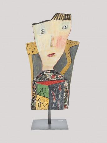 Portrait à la chaise jaune - LARUS_ELIANE_263