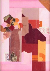 Collage papier Rose