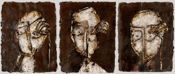 COIGNARD James - Triptyque, Têtes