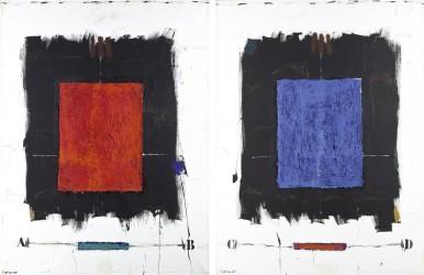 COIGNARD James - Espaces - Rouge I et Bleu II, diptyque