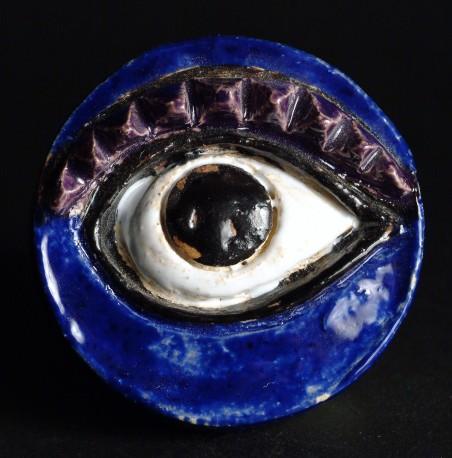 Petite pièce pour chasser le mauvais oeil - Bleu sourcil violet - COVILLE_JACKY_453