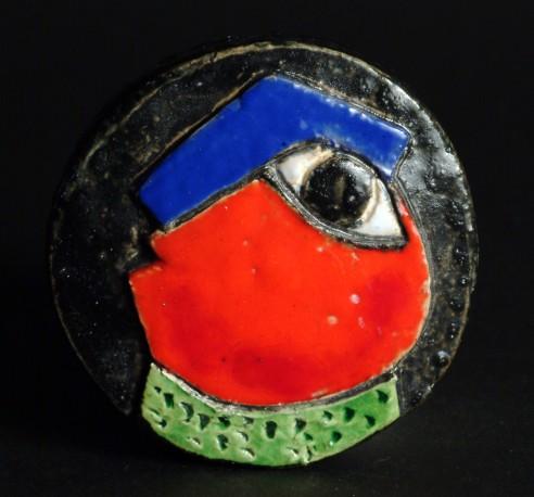 Petite pièce pour chasser le mauvais oeil - Bleu rouge vert - COVILLE_JACKY_462