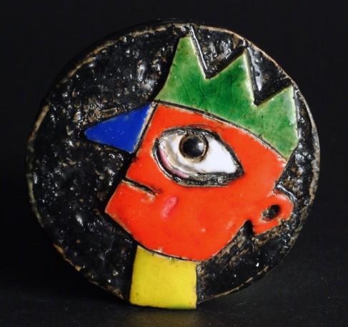 Petite pièce pour chasser le mauvais oeil- Crête verte - COVILLE_JACKY_463