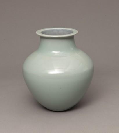 DEBLANDER Robert - Vase balustre col méplat céladon brillant - DEBLANDER_ROBERT_227
