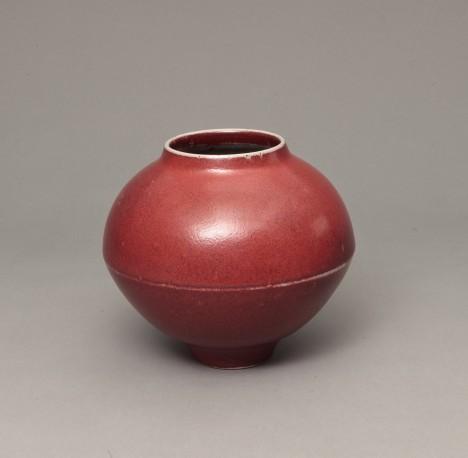 DEBLANDER Robert - Vase rond à arête rouge - DEBLANDER_ROBERT_235