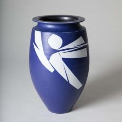 Vase oblong col méplat