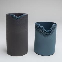 Corrosion bleu et gris - diptyque