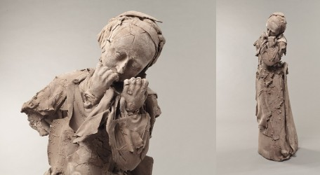 JEANCLOS Georges - La pleureuse, esquisse pour le portail de Saint Ayoul (Provins)
