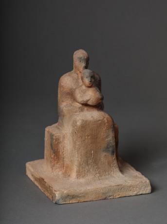 Femme assise avec enfant - BOULLET_ALAIN_765