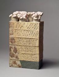 LERAT Jean - Sculpture avec cinq fleurs de géraniums