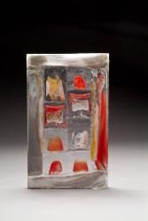 MONOD Isabelle - Fusing, élément rouge, orange, petits cubes